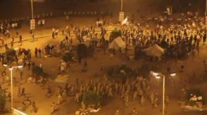 Army Attacks peaceful protesters on April 9 in Tahrir